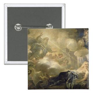 The Dream of Solomon, c.1693 (oil on canvas) 15 Cm Square Badge