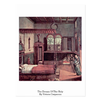 The Dream Of The Holy By Vittore Carpaccio Postcard