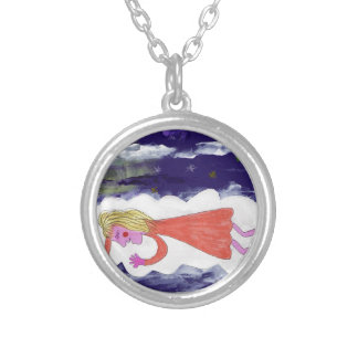 The Dreaming Child Silver Plated Necklace