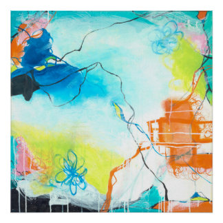 The Dreaming - Square Abstract expressionism Art Poster