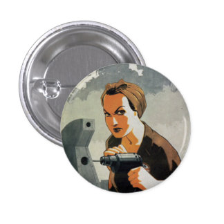 The Drilling Woman 3 Cm Round Badge