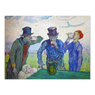 The Drinkers by Vincent van Gogh (1890) Card