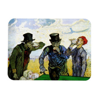 The Drinkers by Vincent van Gogh 1890 Rectangle Magnet