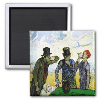 The Drinkers by Vincent van Gogh 1890 Refrigerator Magnet