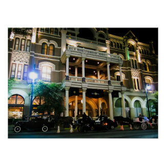 The Driskill Haunted Hotel Austin Texas Poster