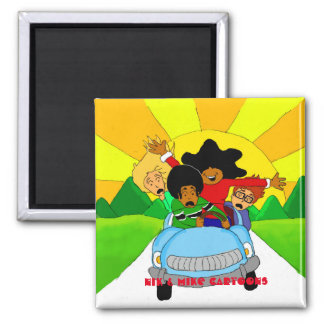 """""""The Drive"""" Square Magnet"""