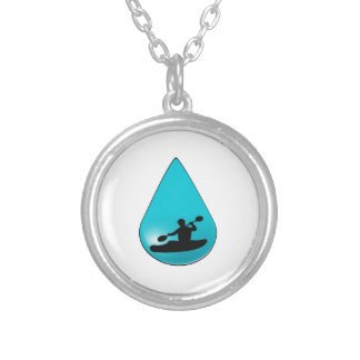 The Droplet Silver Plated Necklace