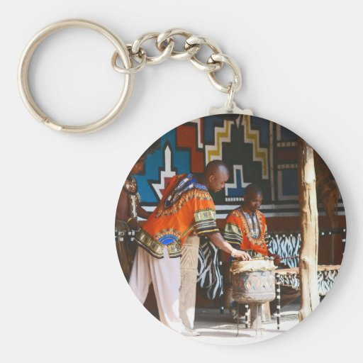 The Drum Beats Of Africa Key Chain