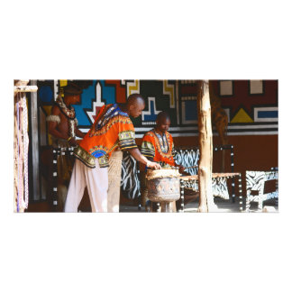 The Drum Beats Of Africa Customized Photo Card