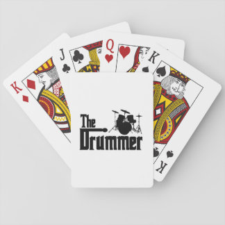 The Drummer Playing Cards
