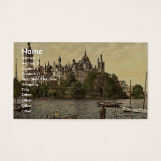 The ducal castle, east side, Schwerin, Mecklenburg Business Card