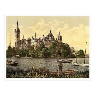 The ducal castle, east side, Schwerin, Mecklenburg Postcard