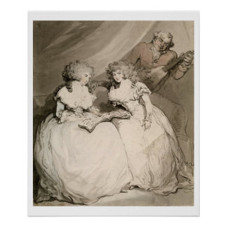The Duchess of Devonshire and her Sister, the Coun Poster