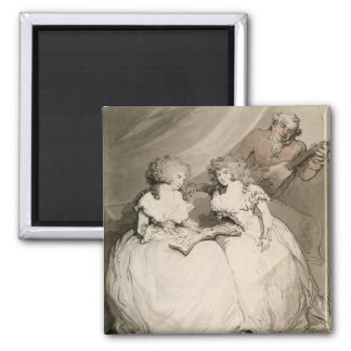 The Duchess of Devonshire and her Sister, the Coun Square Magnet