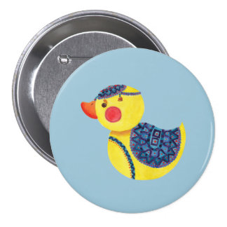 The Ducky Duck 7.5 Cm Round Badge