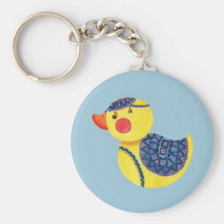 The Ducky Duck Basic Round Button Key Ring