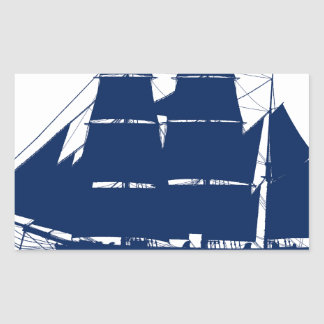 The Dunbrody 1845 by tony fernandes Rectangular Sticker