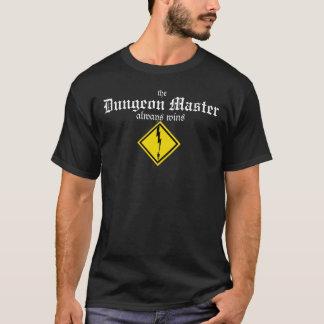 The Dungeon Master Always Wins (lightning bolt) T-Shirt