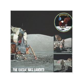 The Eagle has landed Apollo 11 canvas Canvas Print