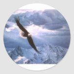 The Eagle Weathers the Storm Round Sticker