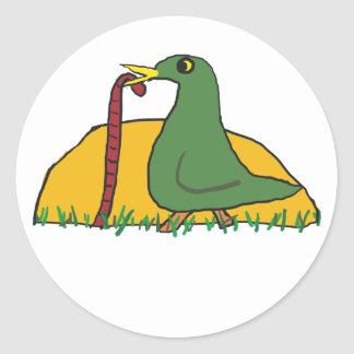 The Early Bird Catches the Worm 2 Classic Round Sticker
