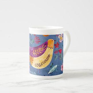 The Early Bird in Flower Garden Tea Cup