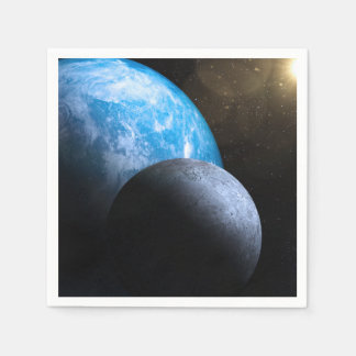 The Earth and Moon Disposable Napkins