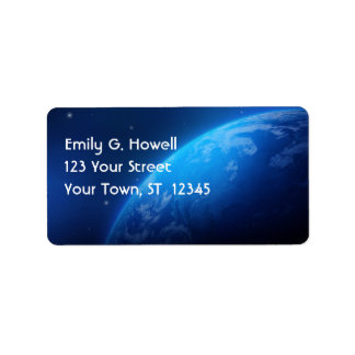 The Earth Avery Label Address Label