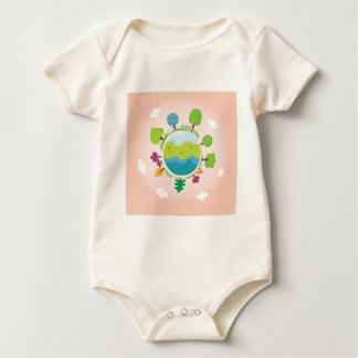 The earth day vintage Illustration edition Baby Bodysuit