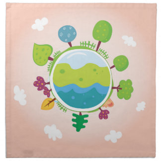 The earth day vintage Illustration edition Napkin