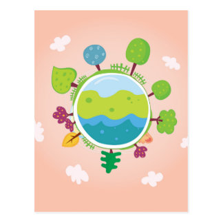 The earth day vintage Illustration edition Postcard