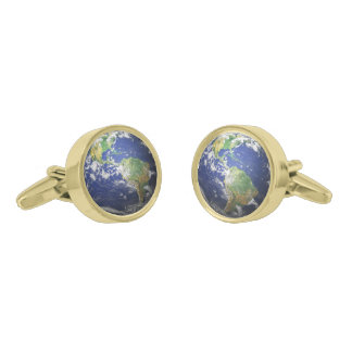 The Earth Gold Finish Cufflinks