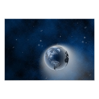 The Earth in Space Poster