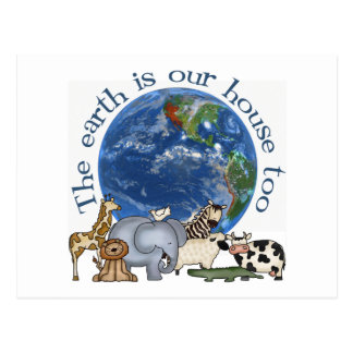 The Earth Is Our House Too Ecology Postcards