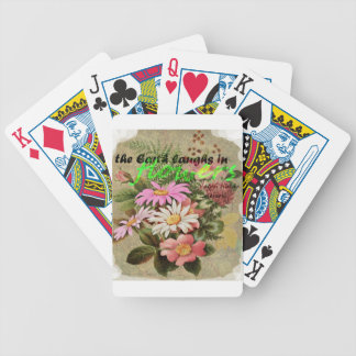 The Earth Laughs in Flowers Bicycle Playing Cards