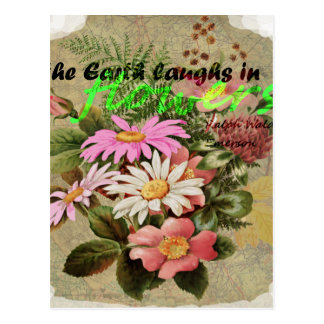 The Earth Laughs in Flowers Postcard