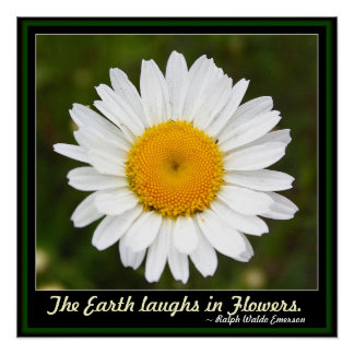 The Earth Laughs in Flowers Poster