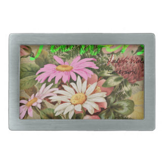 The Earth Laughs in Flowers Rectangular Belt Buckle
