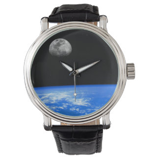 The Earth & Moon Wrist Watch