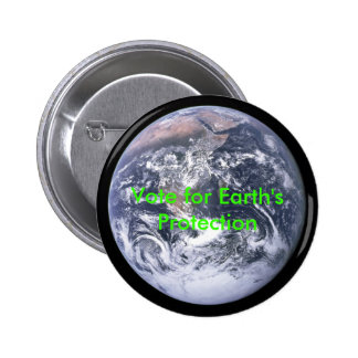 The_Earth_seen_from_Apollo_17, Vote for Earth's... 6 Cm Round Badge