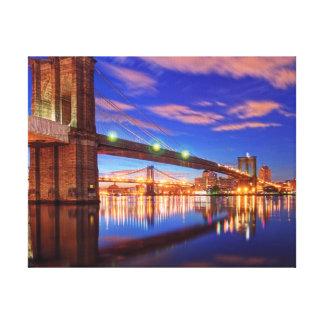 The East River, Brooklyn Bridge, Manhattan Canvas Print