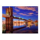 The East River, Brooklyn Bridge, Manhattan Postcard