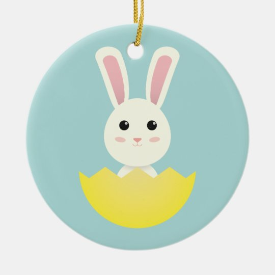 The Easter Bunny I Ceramic Ornament