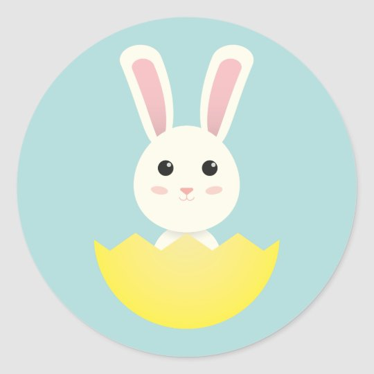 The Easter Bunny I Classic Round Sticker