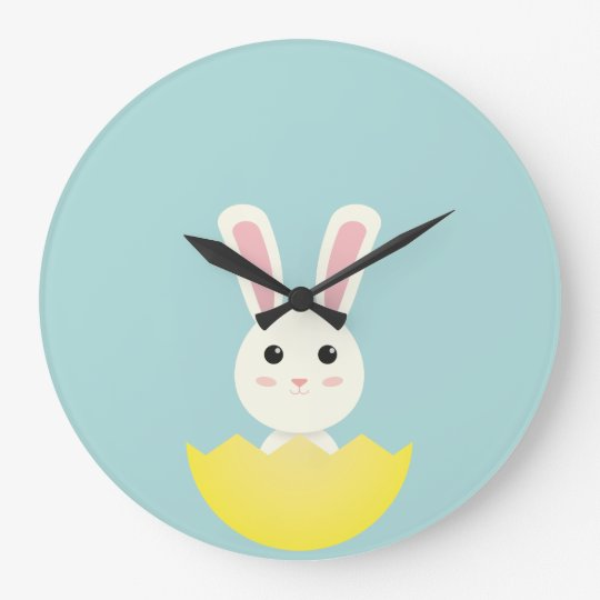 The Easter Bunny I Large Clock