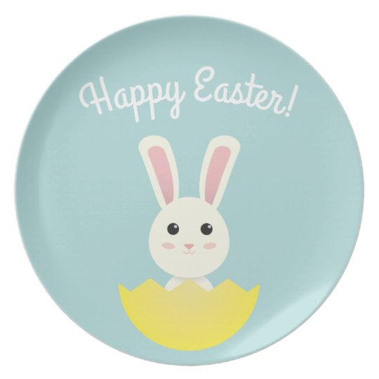 The Easter Bunny I Plate