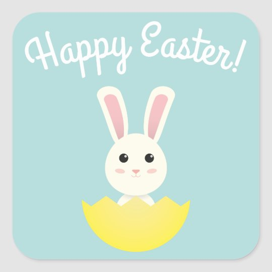 The Easter Bunny I Square Sticker