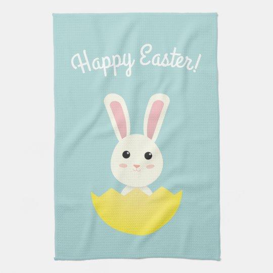 The Easter Bunny I Tea Towel
