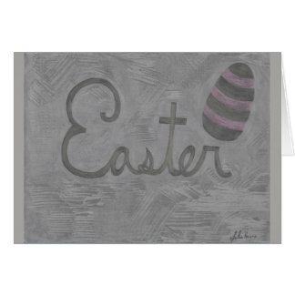 The Easter Cursive And Egg Card