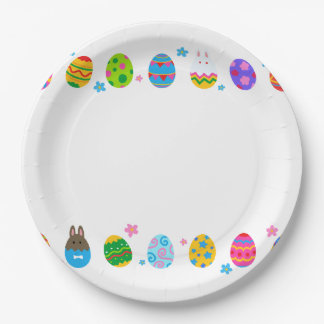 < The Easter egg and rabbit side it lines up, 9 Inch Paper Plate